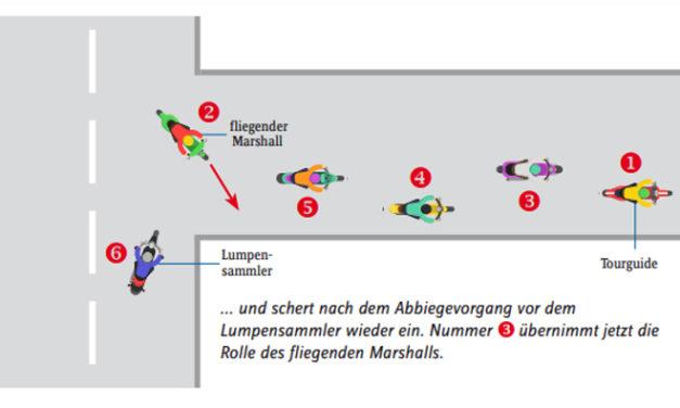 Gruppenfahren mit dem fliegenden Marshall