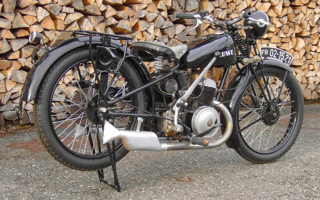 Oldtimermotorrad LUWE 200 wieder daheim